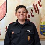 Florian Pinter, Mitglied der Jugendfeuerwehr